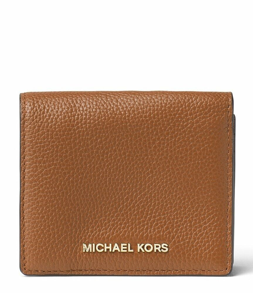 fe54c2848510 NWT Michael Kors Mercer Leather Carryall Card Case Wallet (Luggage)  32F6GM9D1L 190049703083