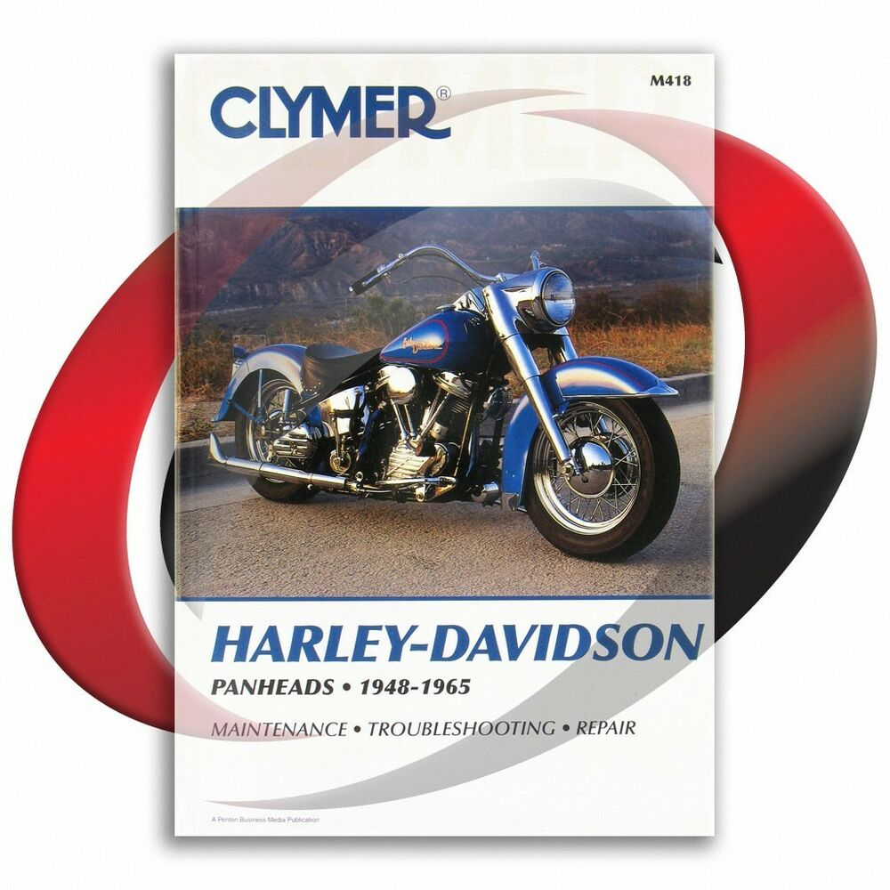 Details about 1948-1965 Harley Davidson FL Panhead Repair Manual Clymer  M418 Service Shop