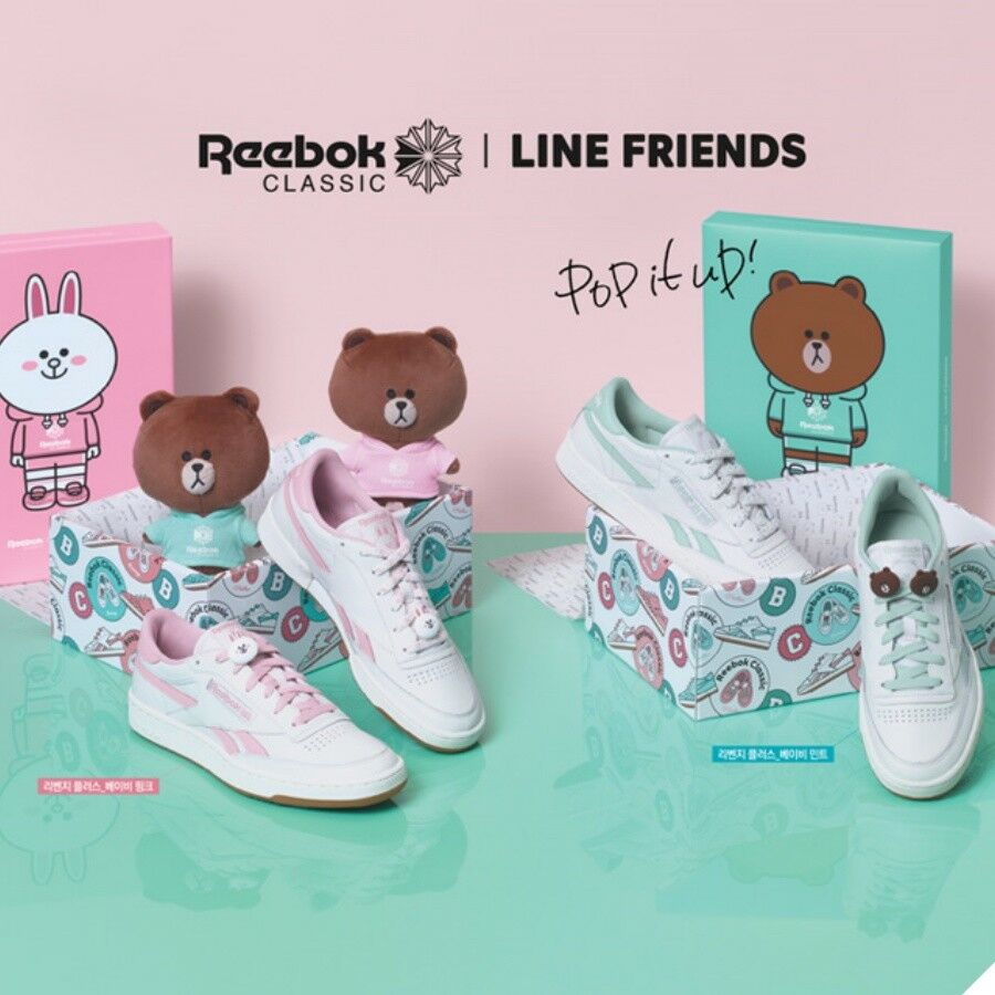 6be29e7e2a55 REEBOK Classic LINE FRIENDS Revenge Plus Limited Sz 220-250mm Pre ...