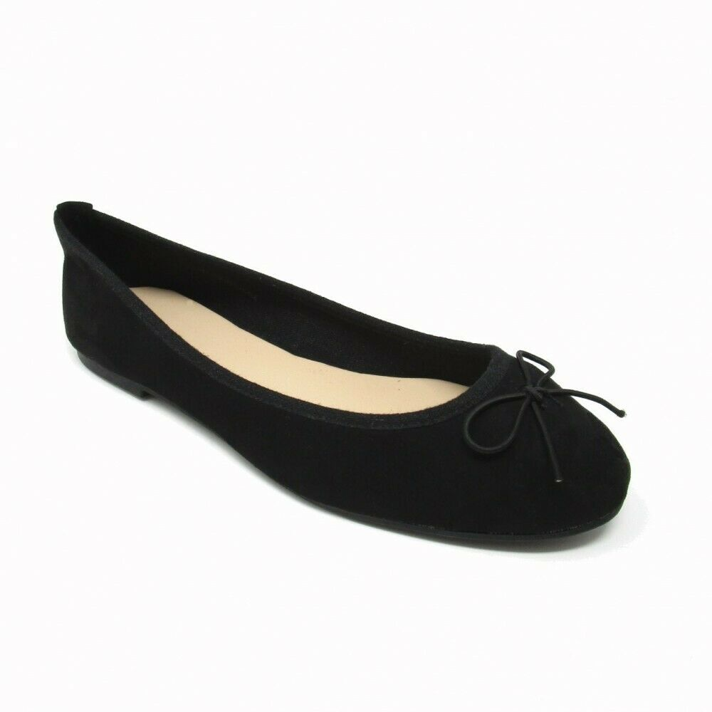 e41643e9604367 Details about LADIES NEW LOOK FAUX SUEDE BOW DETAIL FLAT BALLERINA DOLLY PUMPS  BLACK UK 3-8