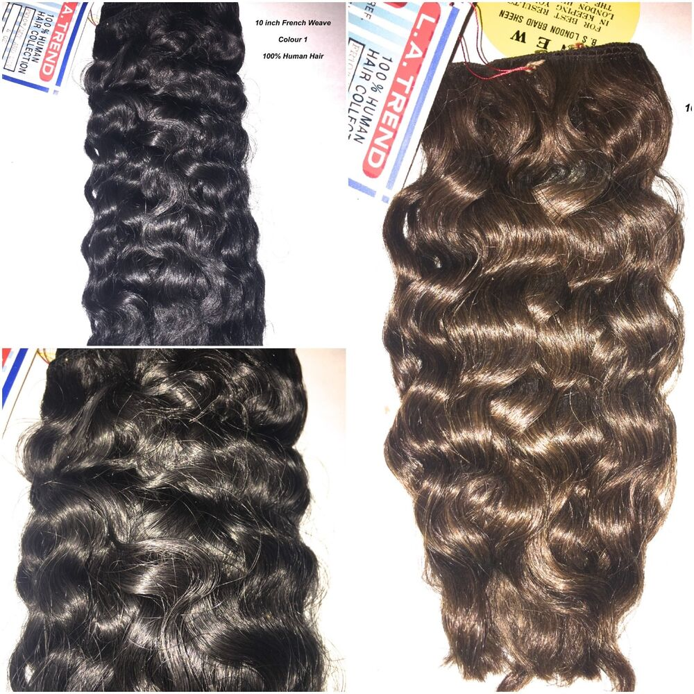 100 Human Hair La Trend French Weave 10 Inches Wavy Style Ebay