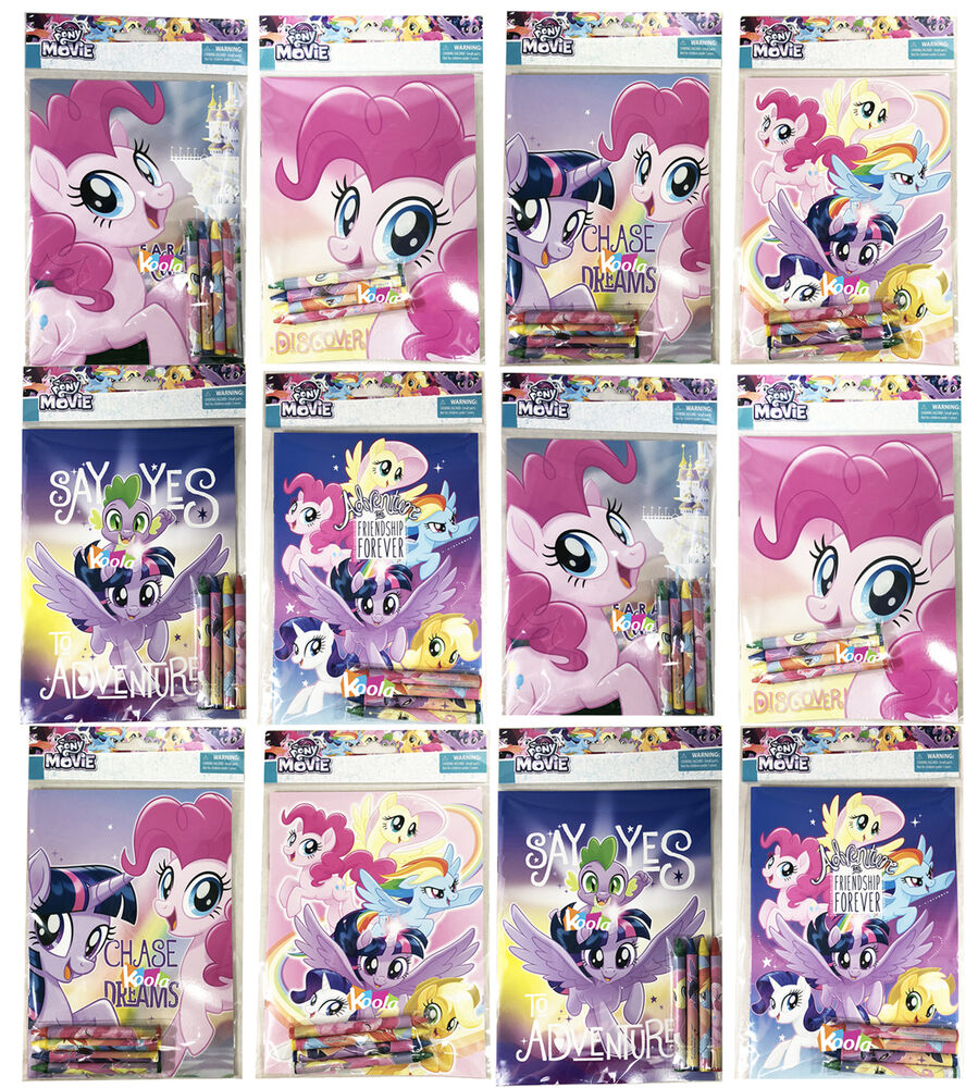 12pcs My Little Pony Coloring Book with Crayon Party Favors Activity ...
