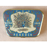 Vintage Phonograph Gramophone Needle Tin Peacock