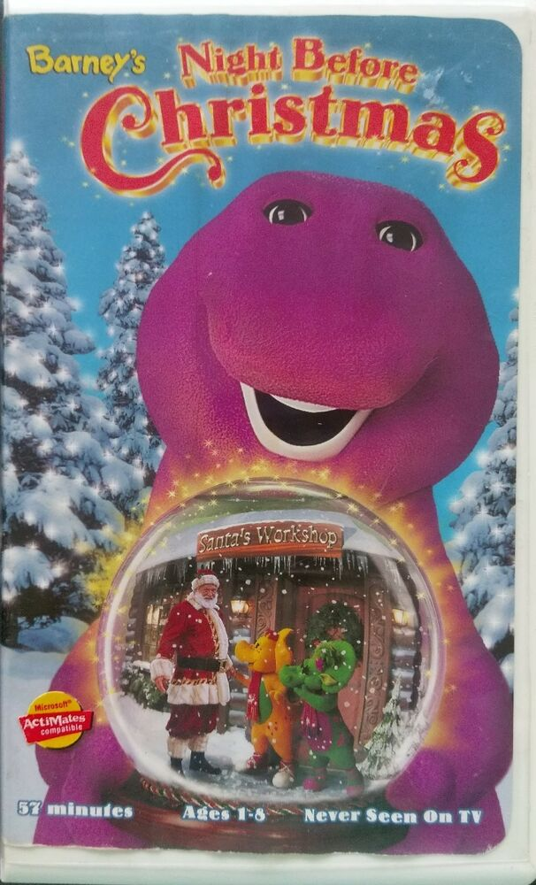 Barney\'s Night Before Christmas (VHS, 2001) Tested Guaranteed Rare ...