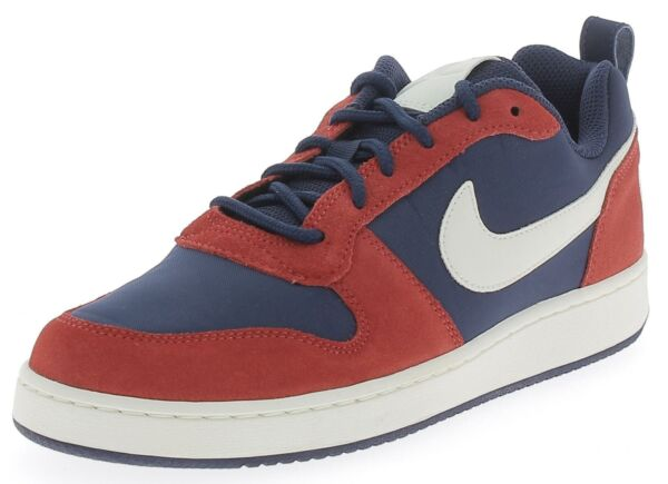 hot sale online 3c86e 55091 Nike Court Borough Low Prem Scarpe Sportive Uomo Rosse Blu