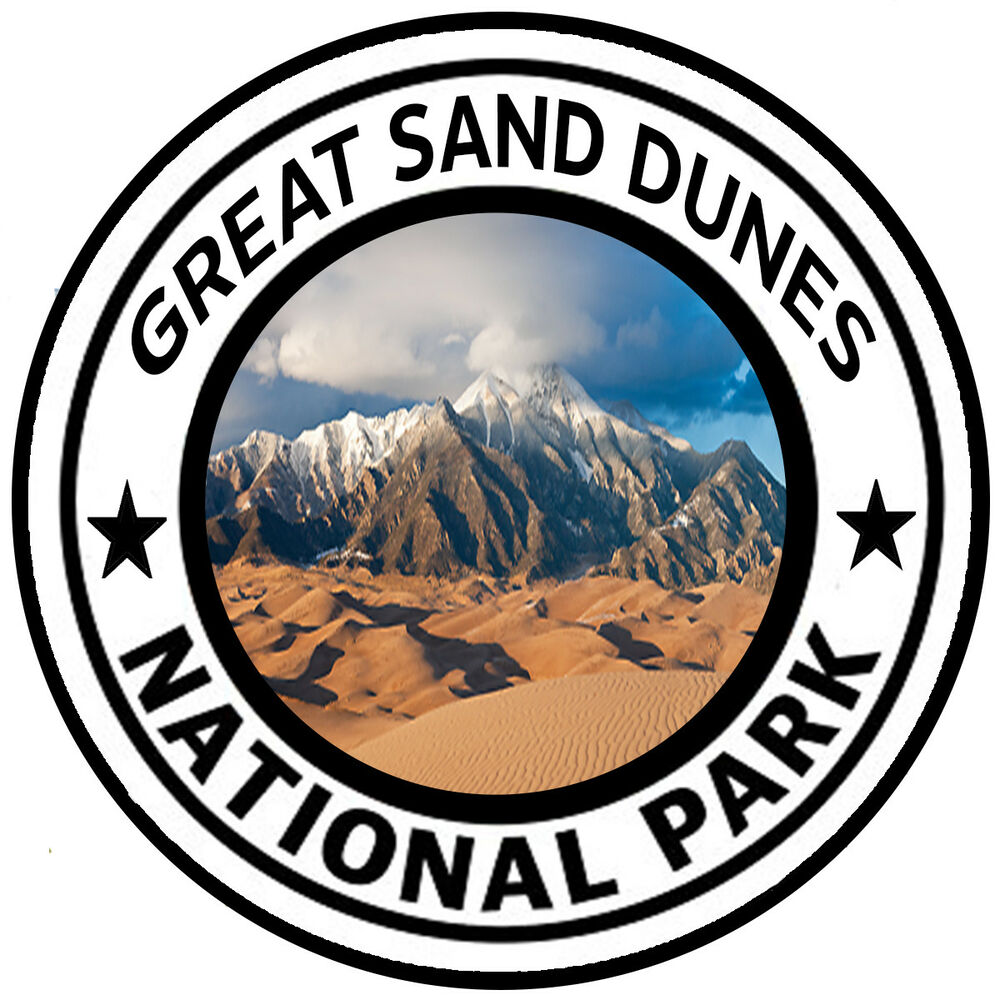 Great Sand Dunes National Park Round Sticker Decal Car