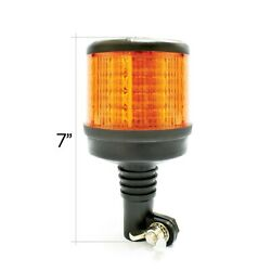 DIN Pole Mount Amber LED Flashing Light Beacon With Multiple Flash Patterns