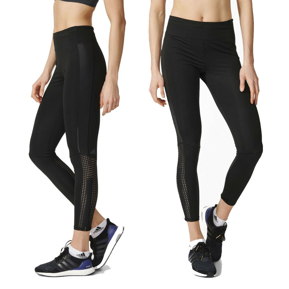 83314cd1214 Details about adidas Womens Supernova Running Gym Tight Long Sports  Training Leggings - Black