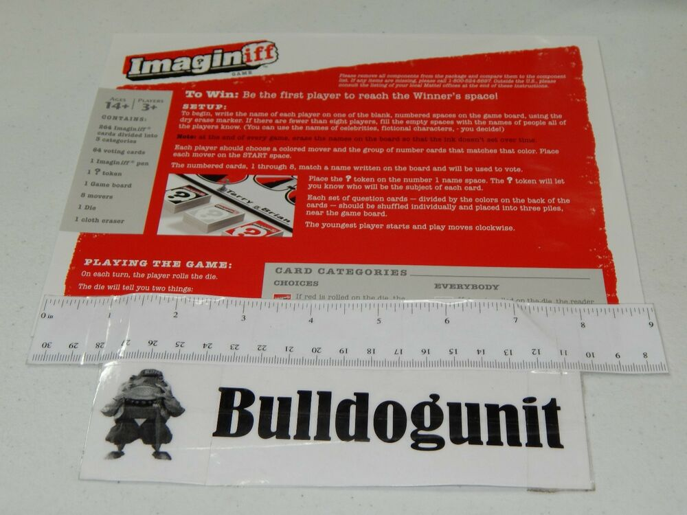 2012 Imaginiff Board Game Replacement Instructions Rules Only Ebay