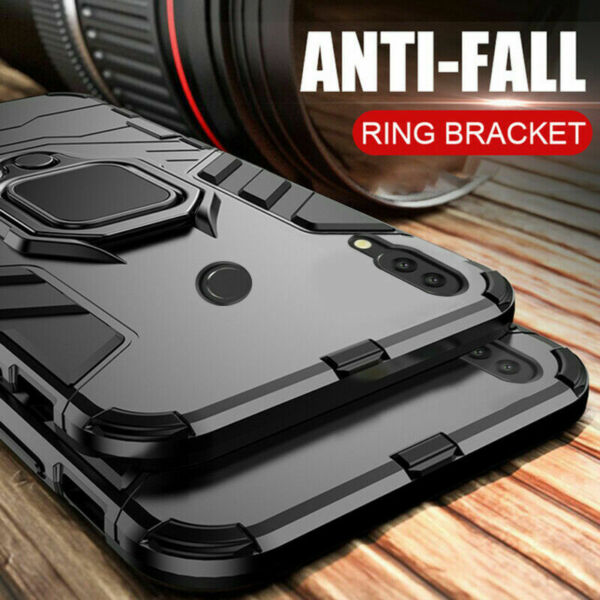 For Huawei Mate 9/10/P20/Pro/Lite Adsorption Magnetic Ring Stand Car Case Cover