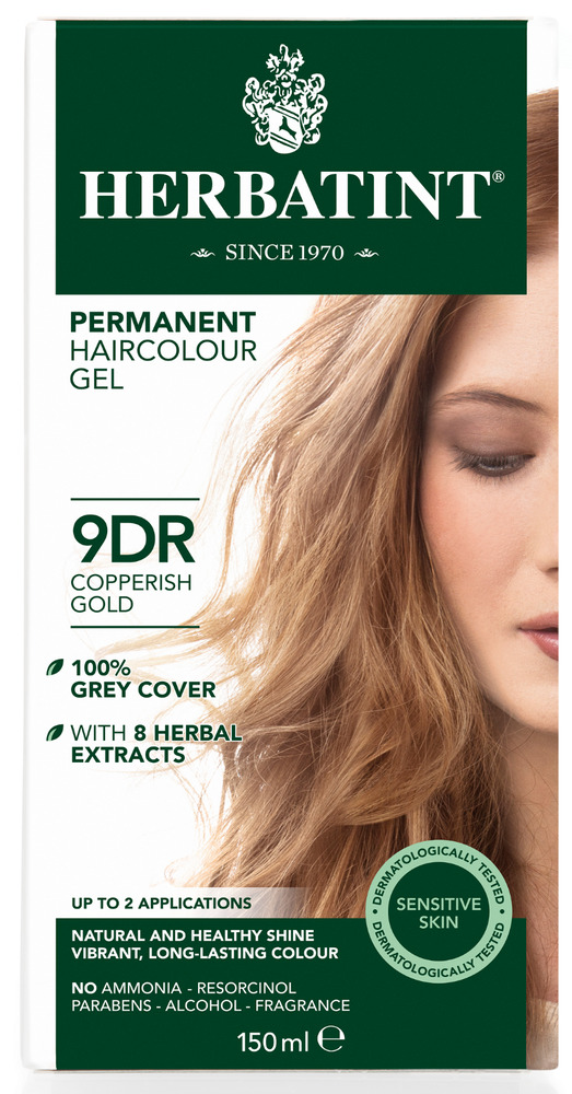 Details About Herbatint Herbal Natural Hair Dye 9dr Copperish Gold 150ml Ammonia Free