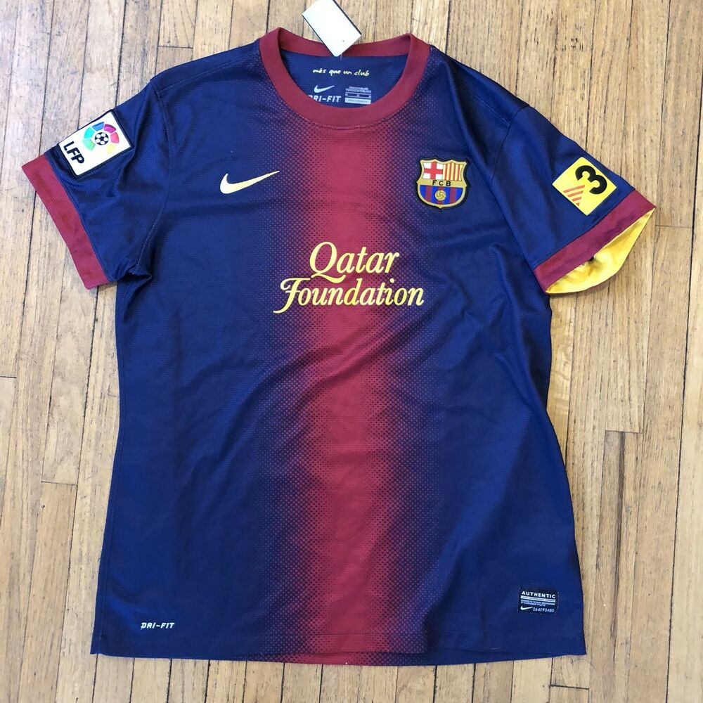 c5b3365eb Details about Youth Nike Dri Fit FCB Barcelona Authentic Soccer Jersey Boys  Size Medium