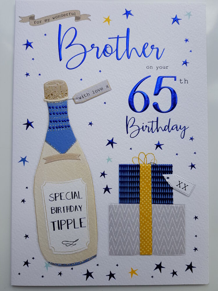 Details About For My Wonderful Brother On Your 65th Birthday Card