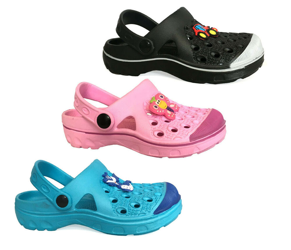 231b02afd2e5 Details about New Boys Girls  Garden Clog Shoe Beach Shower Pool Shoes  Toddler Kids