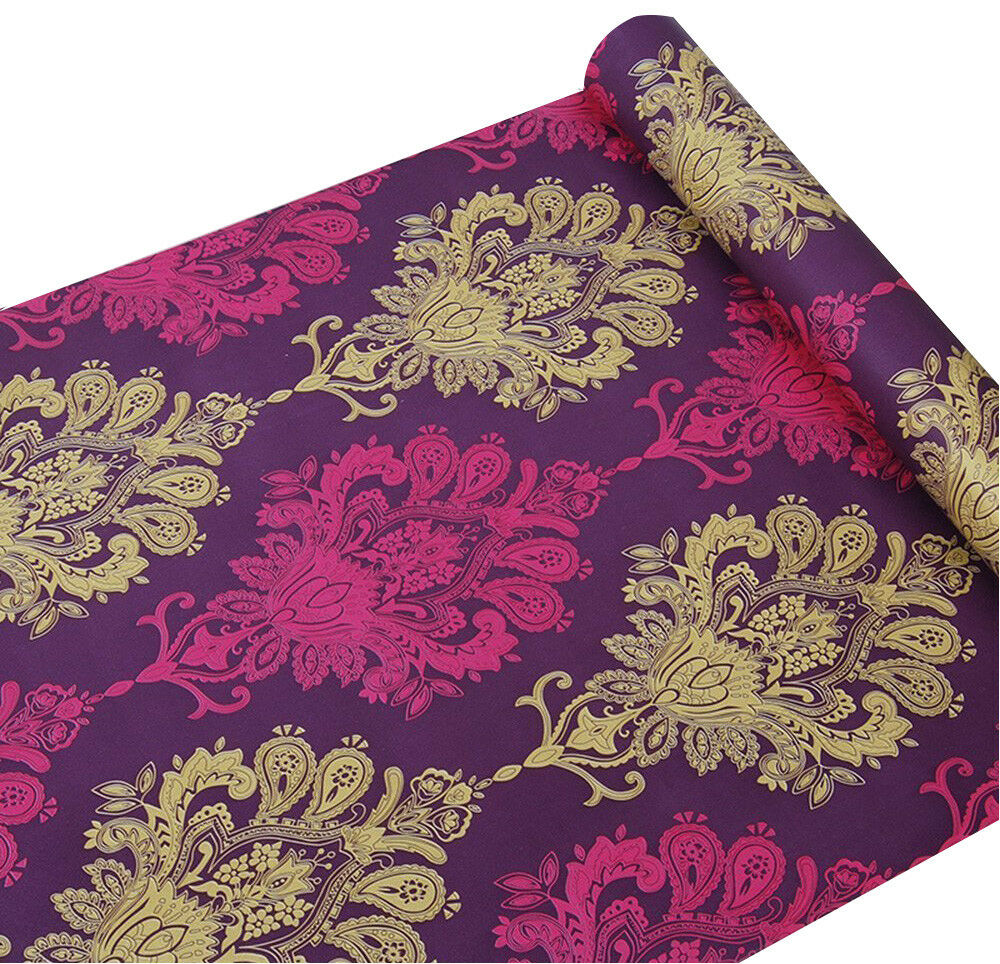 Details About L And Stick Wallpaper Damask Contact Paper Self Adhesive Vinyl Shelf Drawer