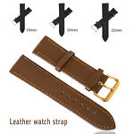 Replacement Genuine Leather Watch Strap Band Buckles Wristwatch Width 18 20 22mm