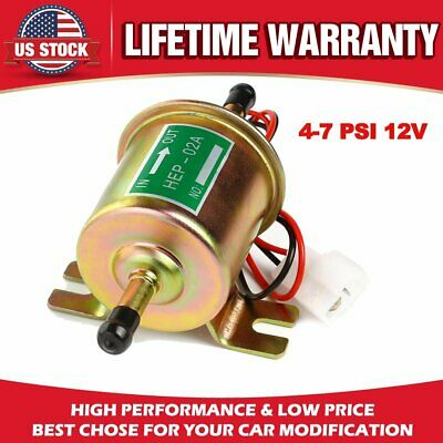 Universal Electric Fuel Pump 4-7 PSI 12V Low Pressure Gas Diesel Inline HEP-02A