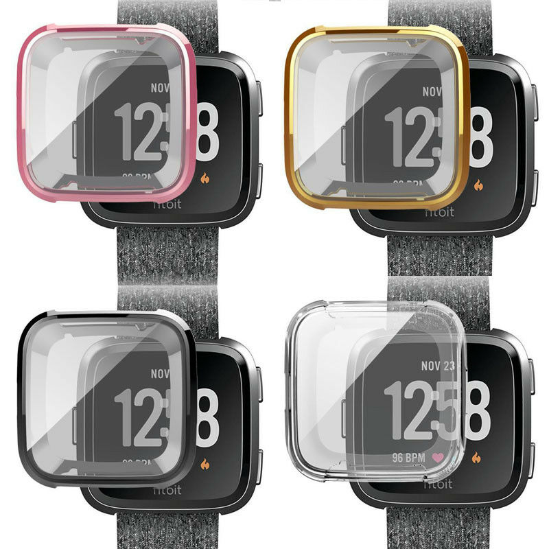 Fitbit Versa Silicone Protective TPU Case Screen Protector