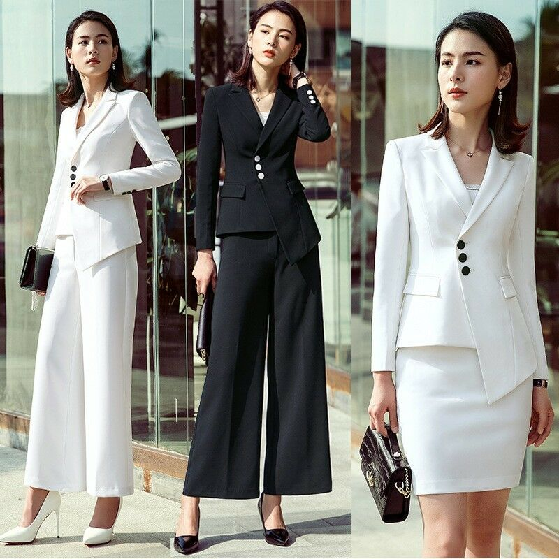 7259e7233c 2018 Women Ladies Custom Made Business Office Tuxedos Formal Work Wear New  Suit