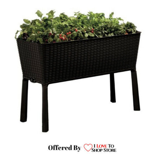 Keter easy grow patio outdoor raised elevated garden bed flower plant planter ebay Keter easy grow elevated flower garden planter