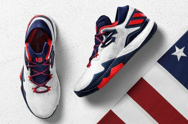 buy online 9020f 30a5b Adidas CRAZYLIGHT Boost LOW Olympics USA James Harden BASKETBALL Boots UK  12  eBay