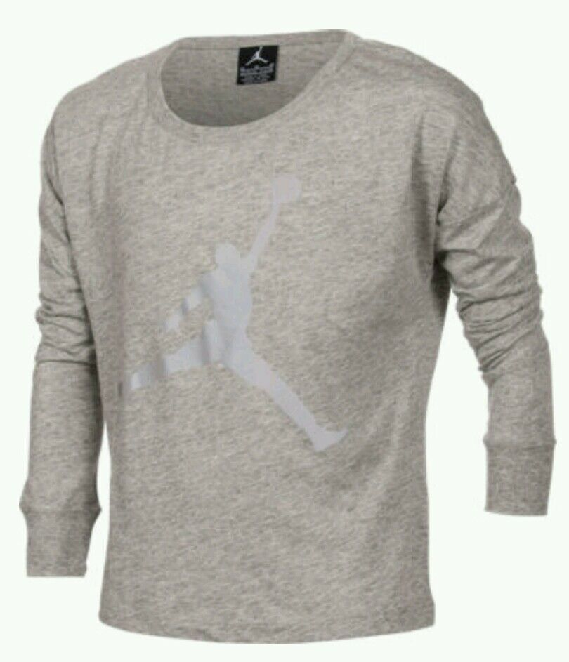 02e775a7fee2a3 Details about Nike Air Jordan Girls Jump-man Reflect On This Long-Sleeve  Shirt Size 5