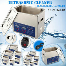 Stainless Steel Industry Heated Ultrasonic Cleaner Heater With Timer 2L-22L