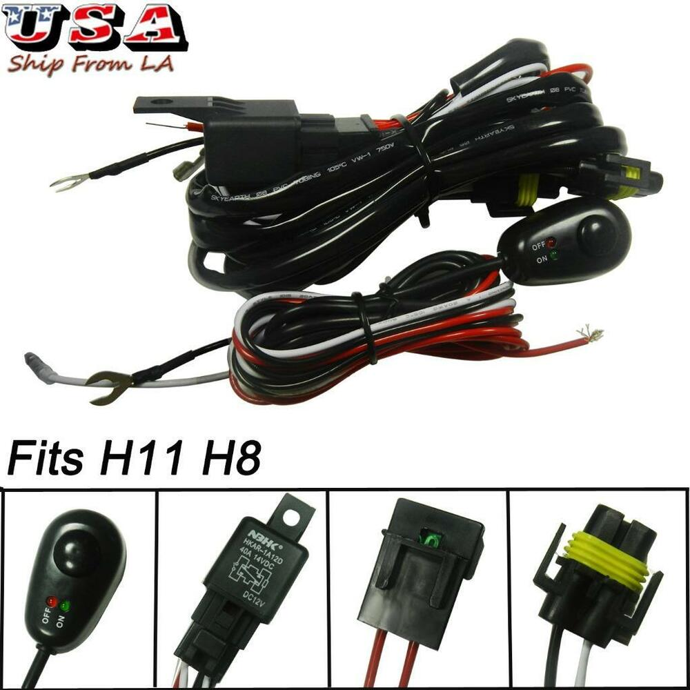 Relay Harness Wire Kit   Led On  Off Switch For Fog Lights