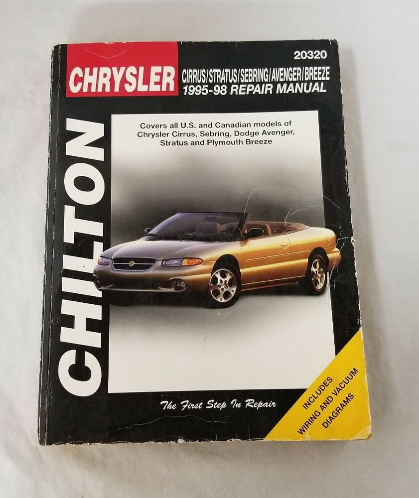 Chilton 1995-98 Chrysler Cirrus Stratus Sebring Avenger Breeze Repair Manual  | eBay