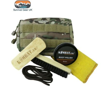 img-BROWN DELUXE BOOT CARE CLEANING MOLLE POUCH KIT CADET TA SF COMBAT
