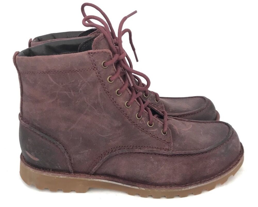 Ugg Fallbrook Cordovan Mens Rust Leather Lace Up Work Or