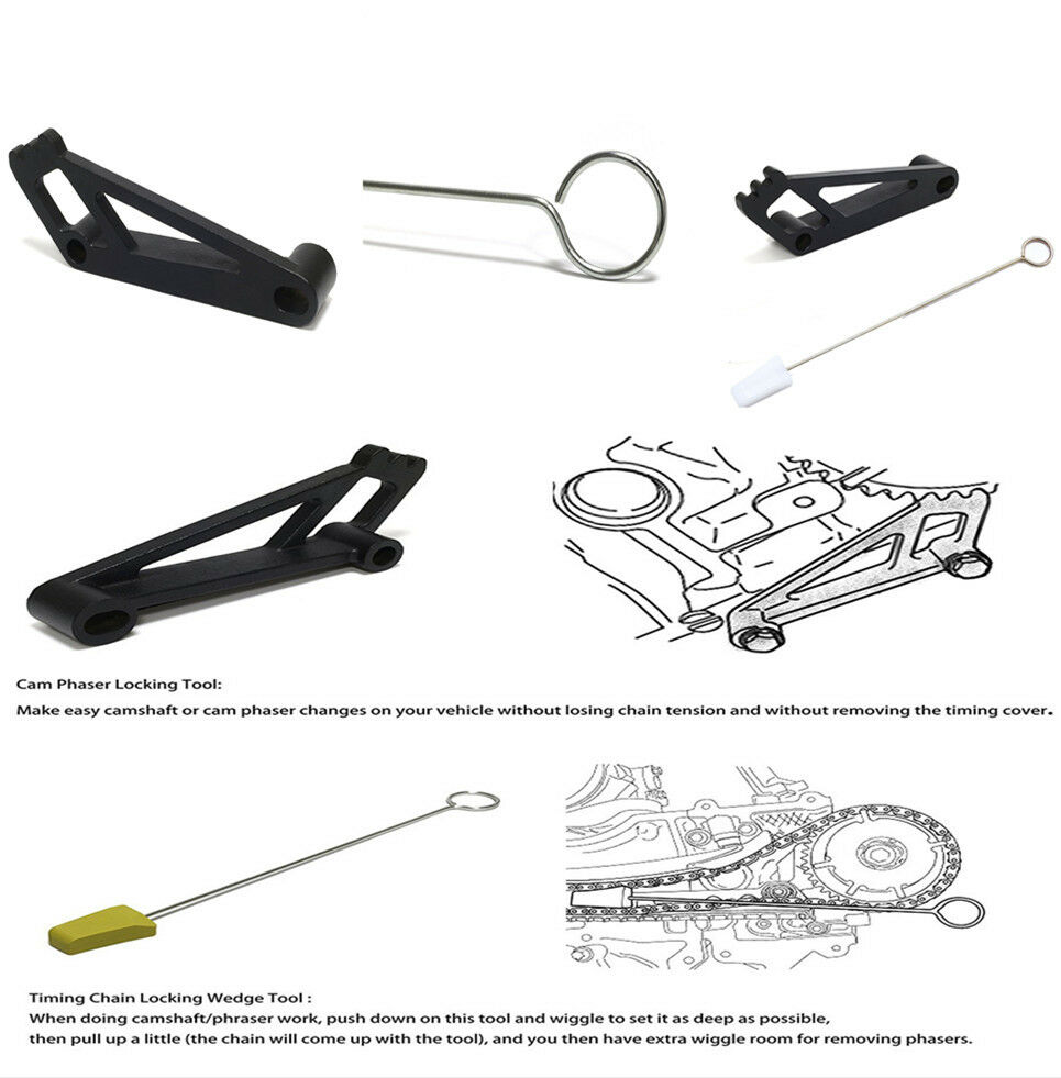 Camshaft Phaser Ford 5 4 Ebay: Cam Phaser+Timing Chain Wedge Locking Tool For Ford 4.6L/5