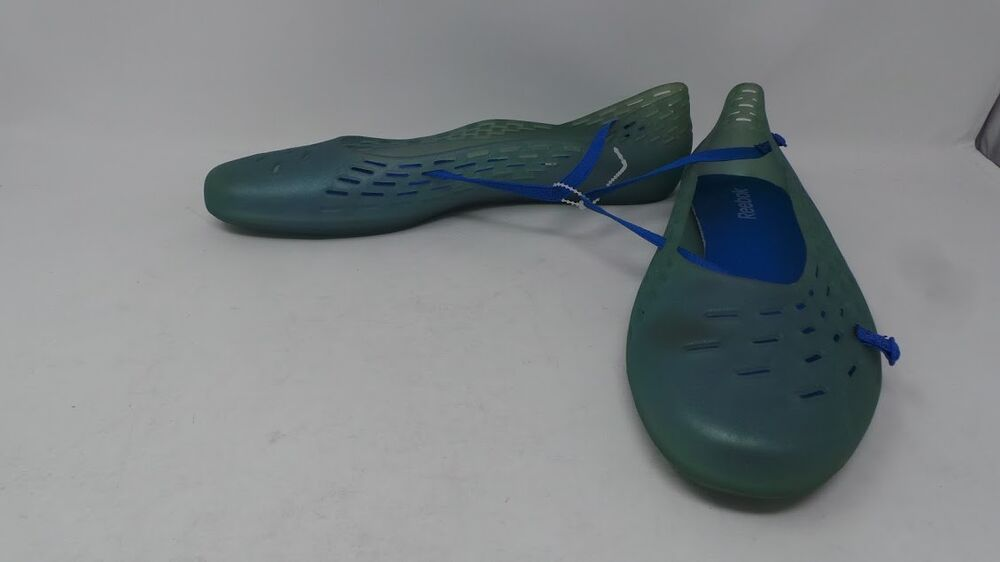 3f0235fa651 Details about New Womens Reebok Jelly Slip On Flats Blue 171G dr