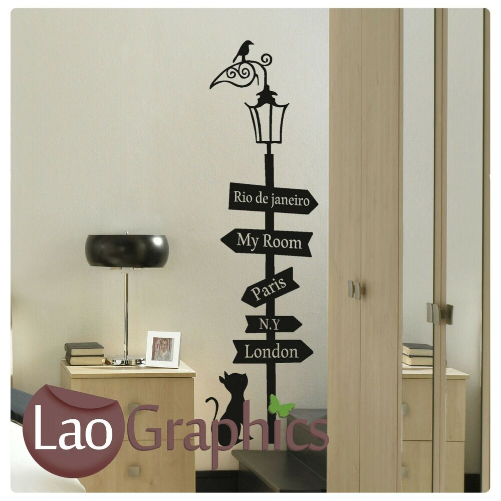 Details about house cat travel sign cute wall art sticker large vinyl transfer graphic decal
