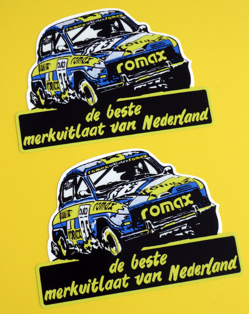Details about vintage classic saab 96 romax rally car historic retro style stickers decals