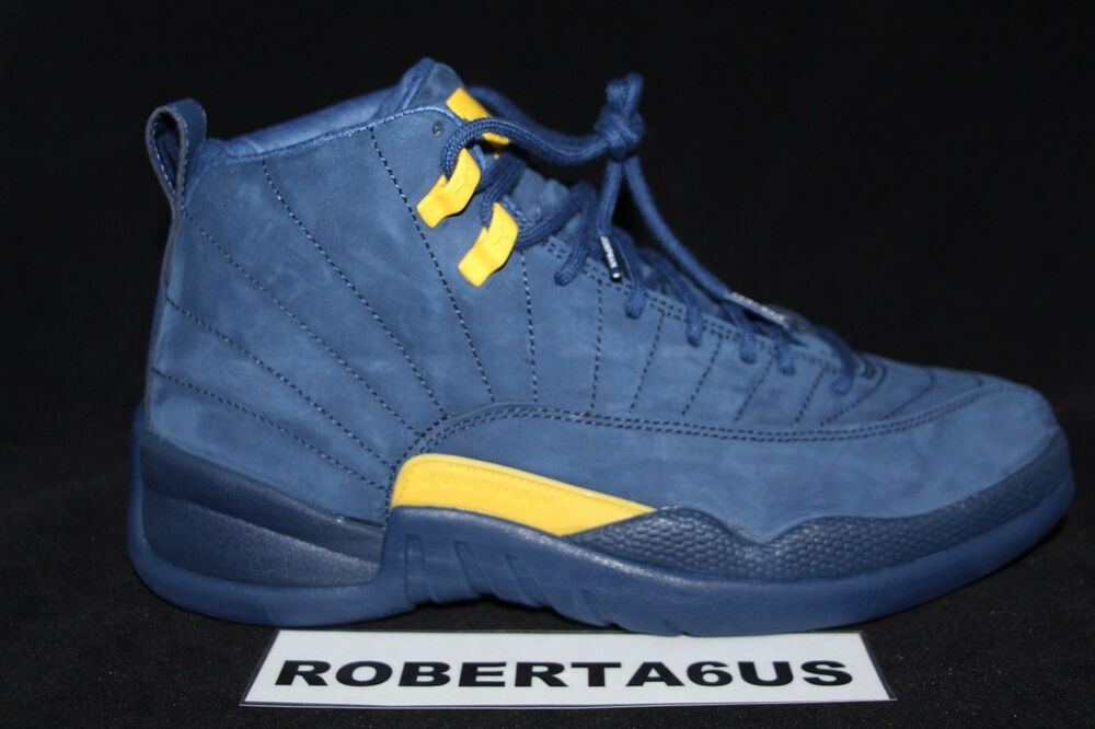 best website e29d9 cdc9b Details about Air Jordan Retro XII 12 Michigan Wolverines Fab Five  BQ3180-407 Navy Size 8-12