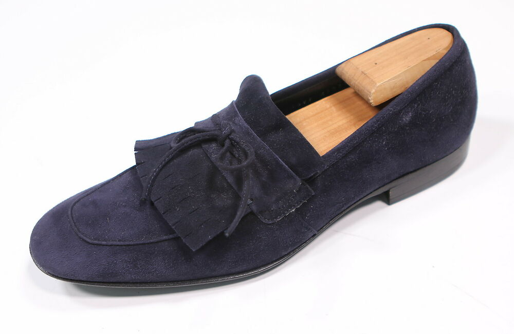 66176b72500 Details about   SALVATORE FERRAGAMO   Blue Suede Made in Italy Dress Penny  Loafers UK 8 US 8.5