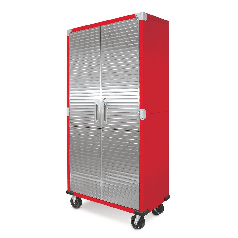 Steel Storage Cabinets: Metal Rolling Garage Tool File Storage Cabinet Stainless