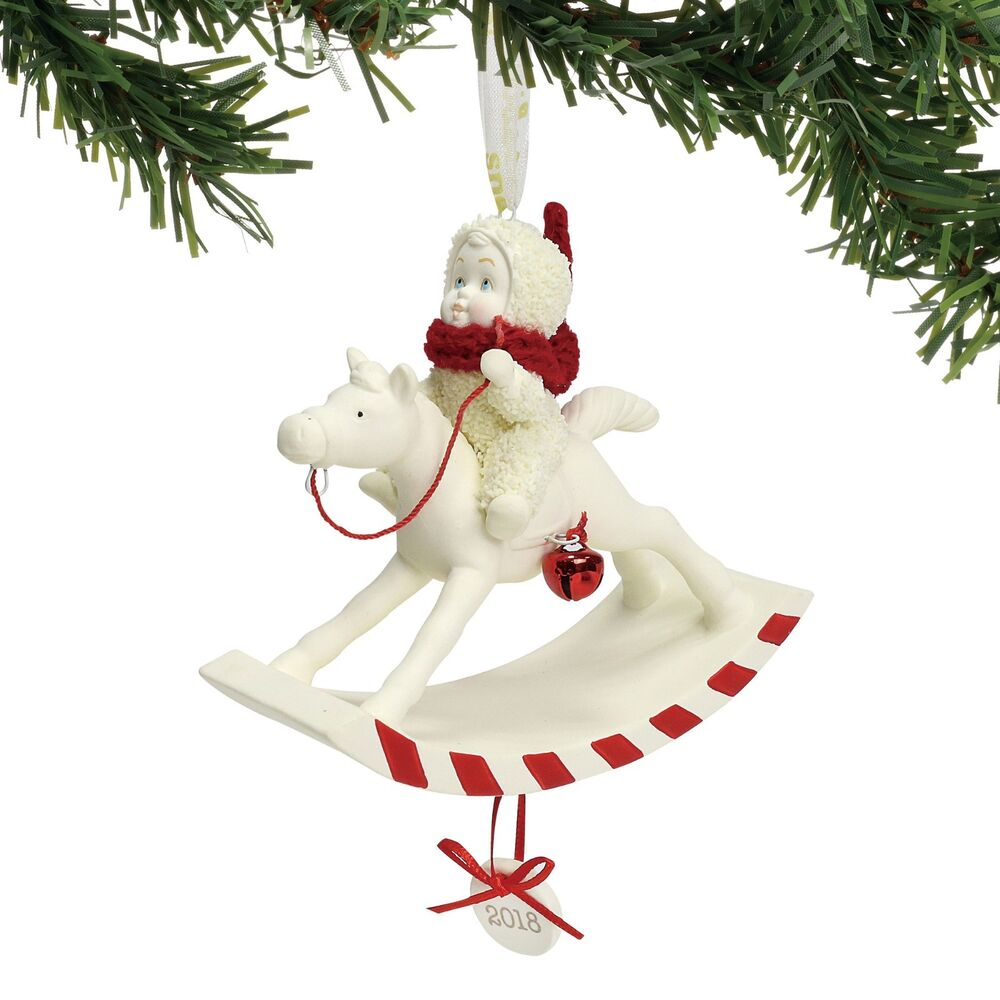 Snowbabies 2018 Dated Christmas Ornament \'Peppermint Pony ...