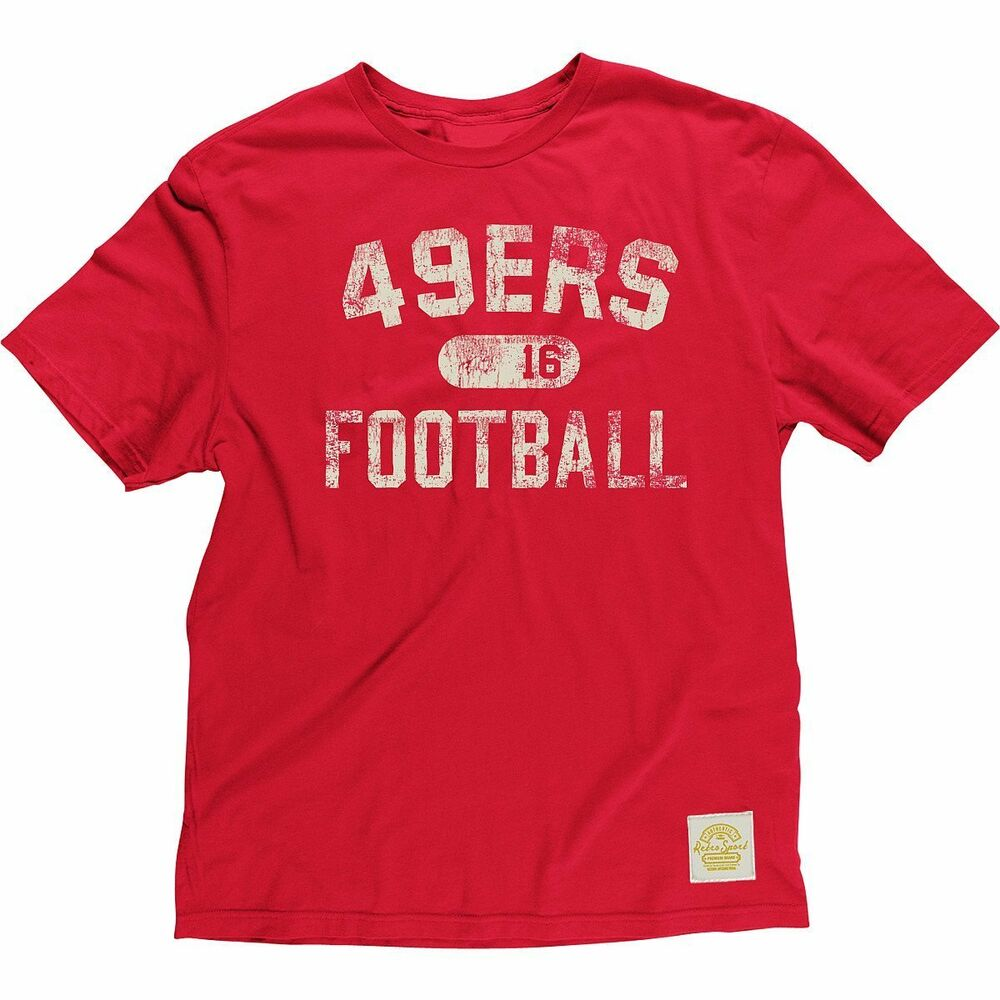 Details about NFL San Francisco 49ers Joe Montana  16 Men s Red Retro  T-Shirt 36627b4cc