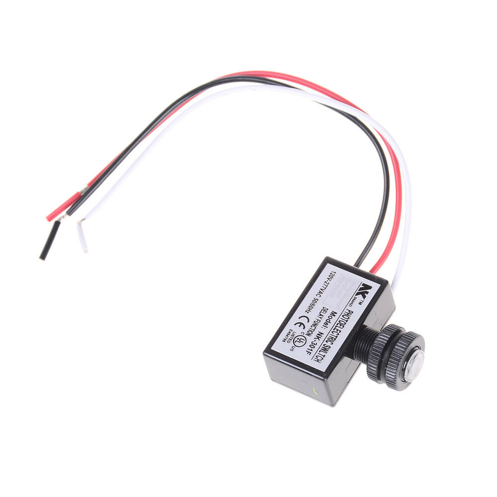 Ac80277v Photocell Dusk To Dawn Button Photo Control Eye Switch Wiring 277vac Controller Razy Ebay