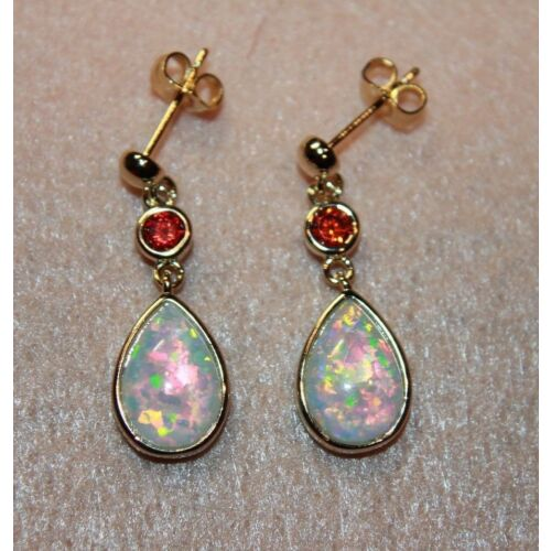 white-fire-opal-cz-earrings-gemstone-gold-plate-jewelry-cocktail-drop-stud