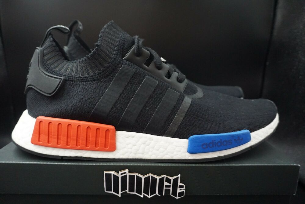 7cedaaa3e Details about Adidas NMD Runner PK OG Primeknit Boost S79168 core black red  blue