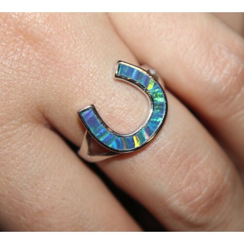 inlaid-fire-opal-ring-gemstone-silver-jewelry-65-75-8-lucky-horseshoe-cocktail