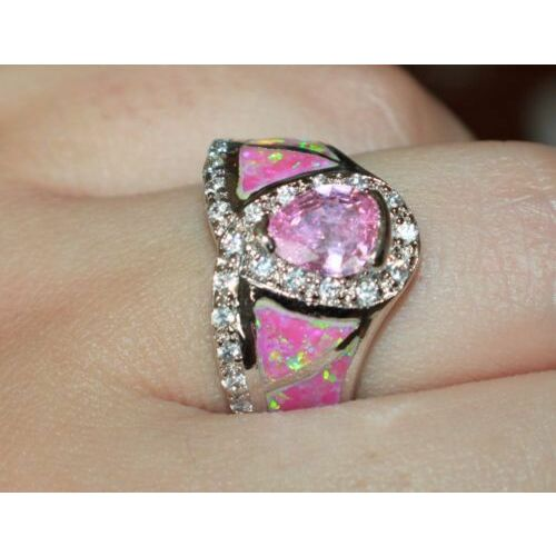 fire-opal-cz-topaz-ring-gems-silver-jewelry-sz-7-725-cocktail-engagement-band-