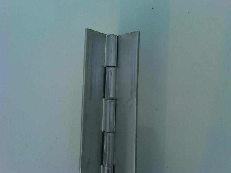 """304 Stainless Steel Piano Hinge 1/""""x1/""""x.038/"""" Sold in 6/"""" increments Made in USA"""