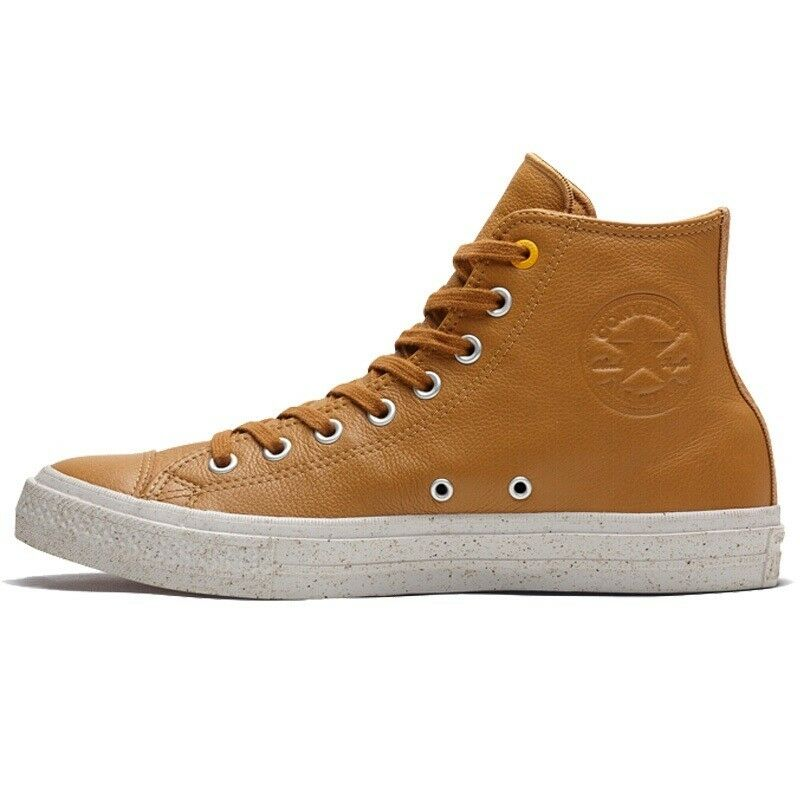 766d2da121c7 Details about Converse Chuck Taylor All Star Hi Raw Sugar Orange Womens  Leather Trainers UK 4