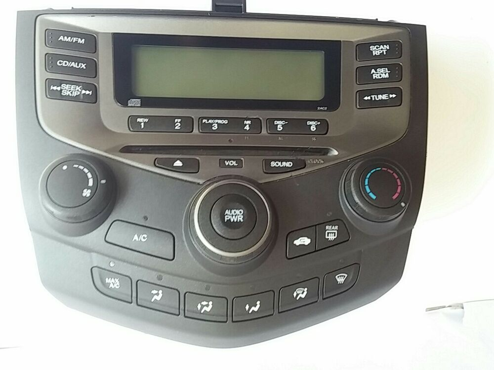 Chgchange 2003 2007 Honda Accord Radio Am Fm Cd Player Climate Rhebay: 2007 Honda Radio Problems At Gmaili.net