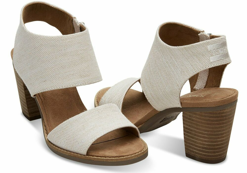 2784fd707bde Details about Toms MAJORCA CUTOUT Womens Natural Yarn Dye 10009814 Wedge  Heels Sandals Shoes