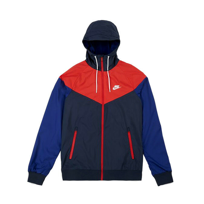 7d0a2bc702 Details about Nike Sportswear Windrunner Jacket 727324-452 Obsidian Blue Red  Royal White Men s